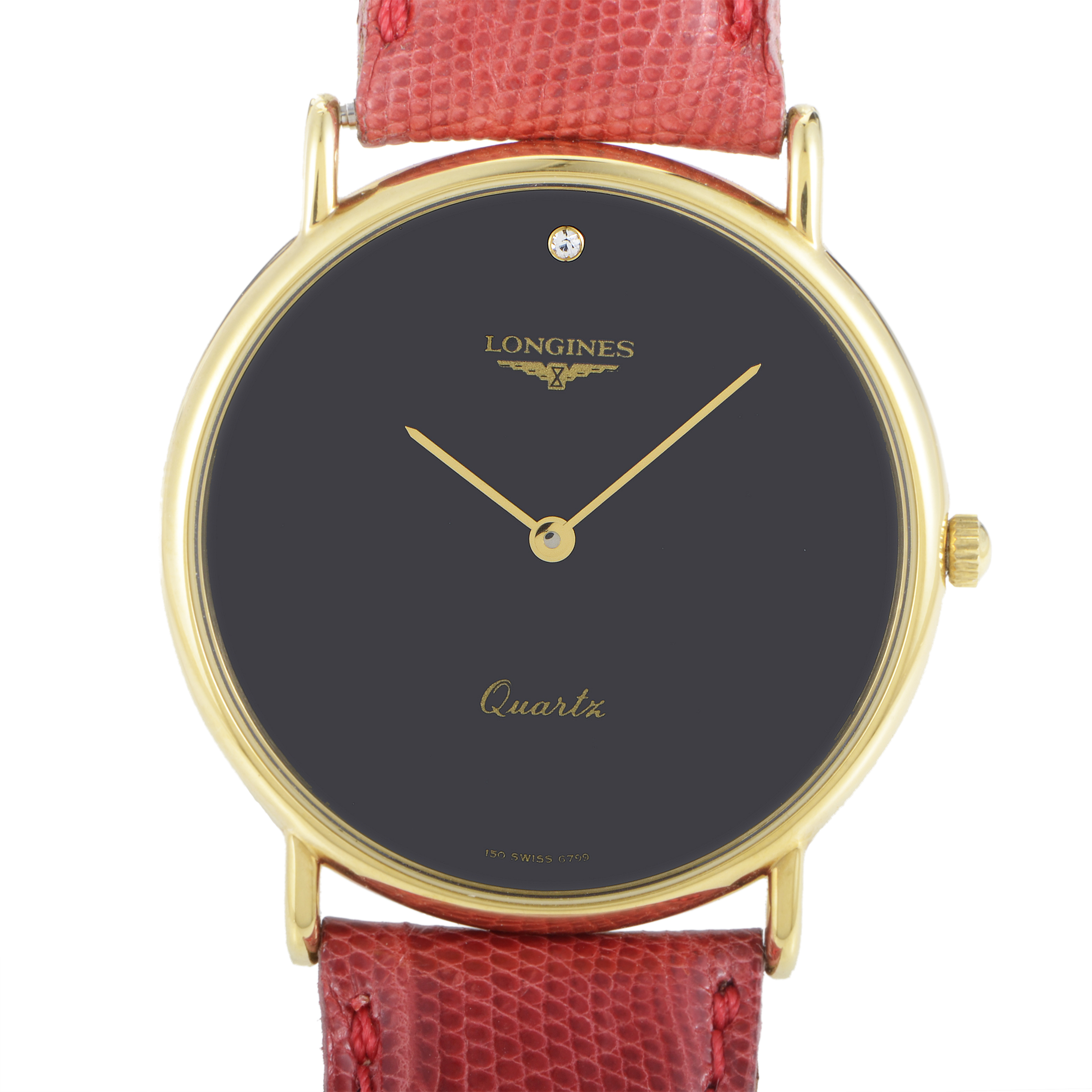 Women's Yellow Gold Plated Stainless Steel Quartz Watch L4.290.7.99.5