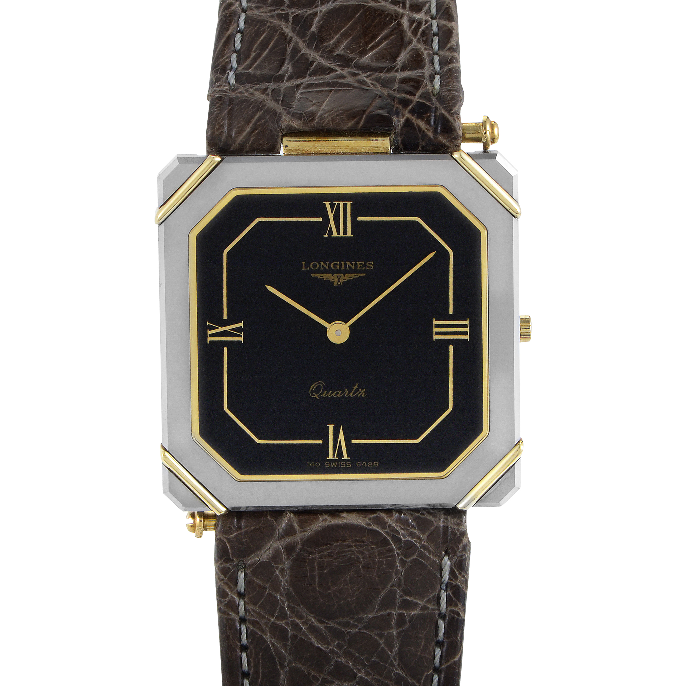 XL 24 Men's Stainless Steel Square Quartz Watch L4.690.4.92.3