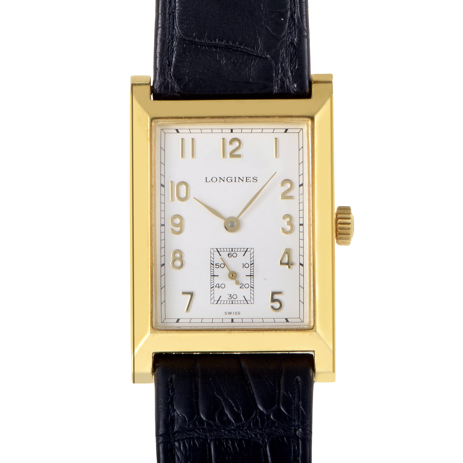 Mens 18K Yellow Gold Quartz Watch L5.662.6.73.2