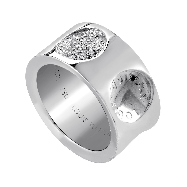 Louis Vuitton Empreinte 18K White Gold Diamond Ring