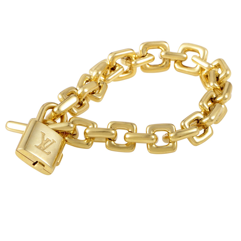 Louis Vuitton Women's 18K Yellow Gold Lock Link Bracelet