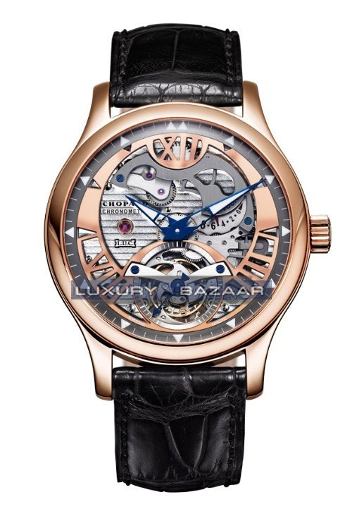 L.U.C. Tourbillon Tech Steel Wings (RG / Gray / Leather)