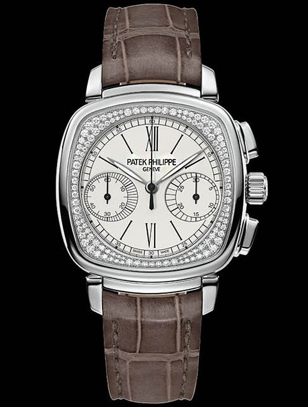Ladies First Chronograph White Gold 7071G-001