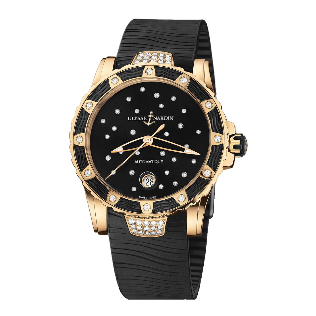 Marine Lady Diver Starry Night 40mm 8156-180E-3C/22 (Rose Gold)