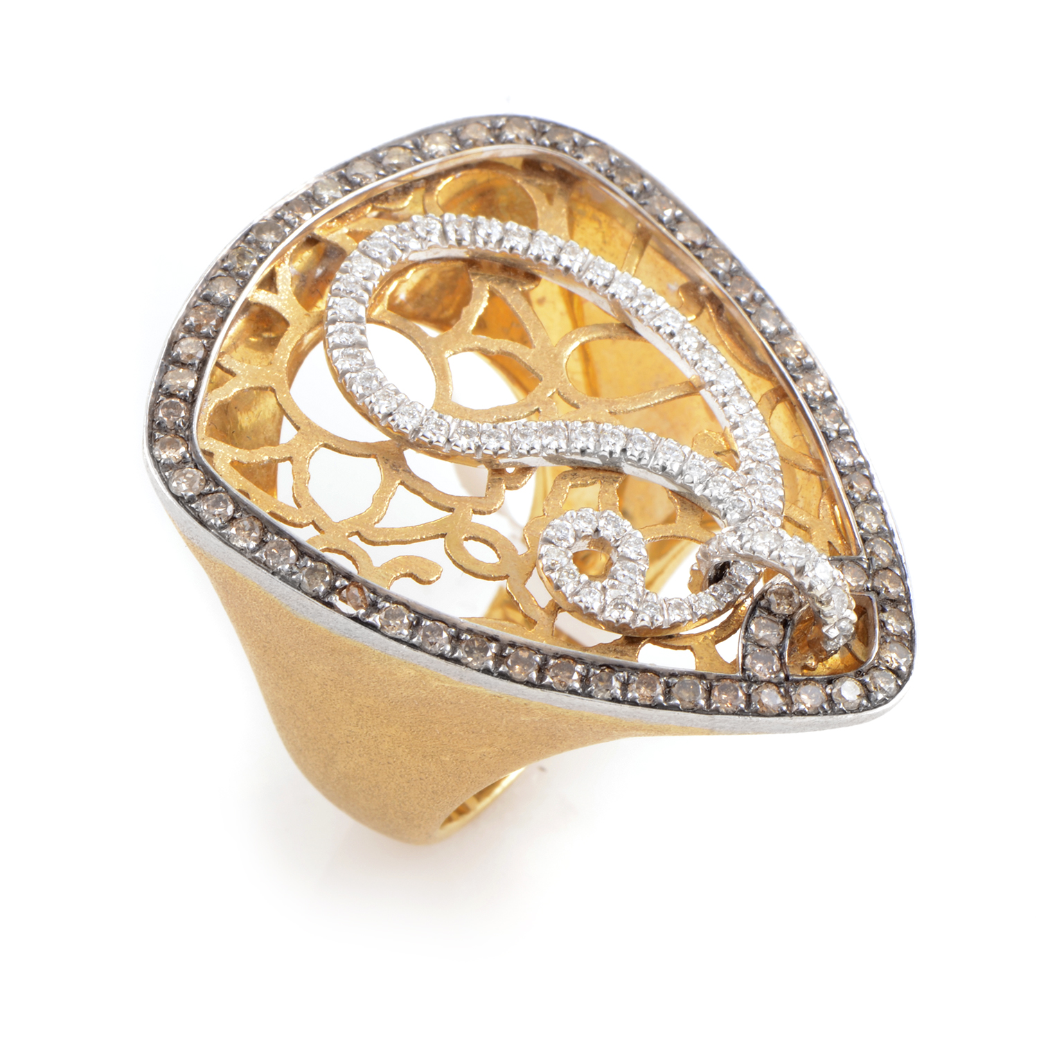 18K Multi-Tone Gold Diamond Ring 36293