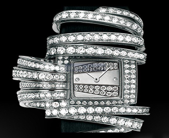 Limelight Secret Motif Ribbon Diamond Watch GOA34131