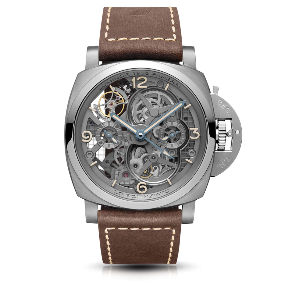 Lo Scienziato Luminor 1950 Tourbillon GMT Titanio PAM00578