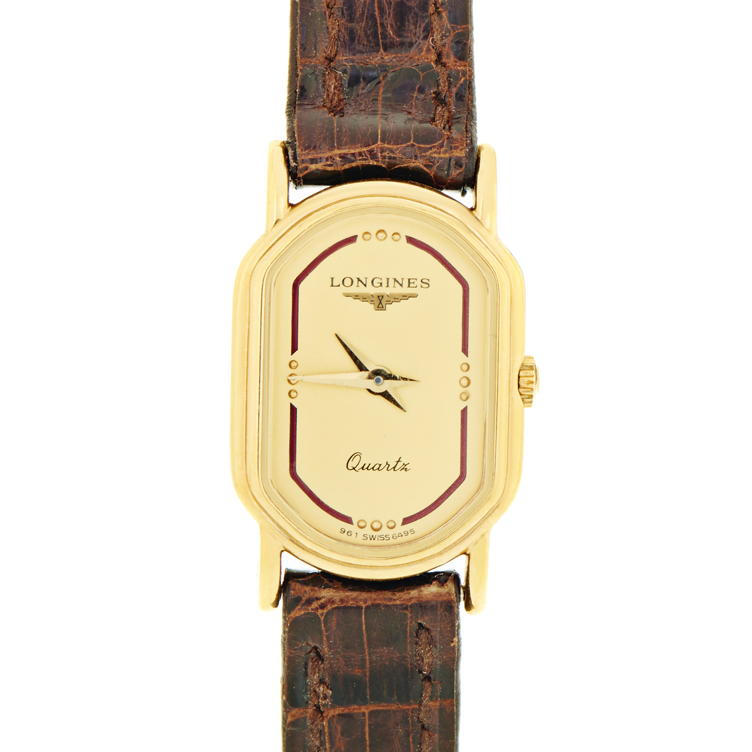 Women's Gold Plated Stainless Steel Quartz Watch L4.290.5.31.9