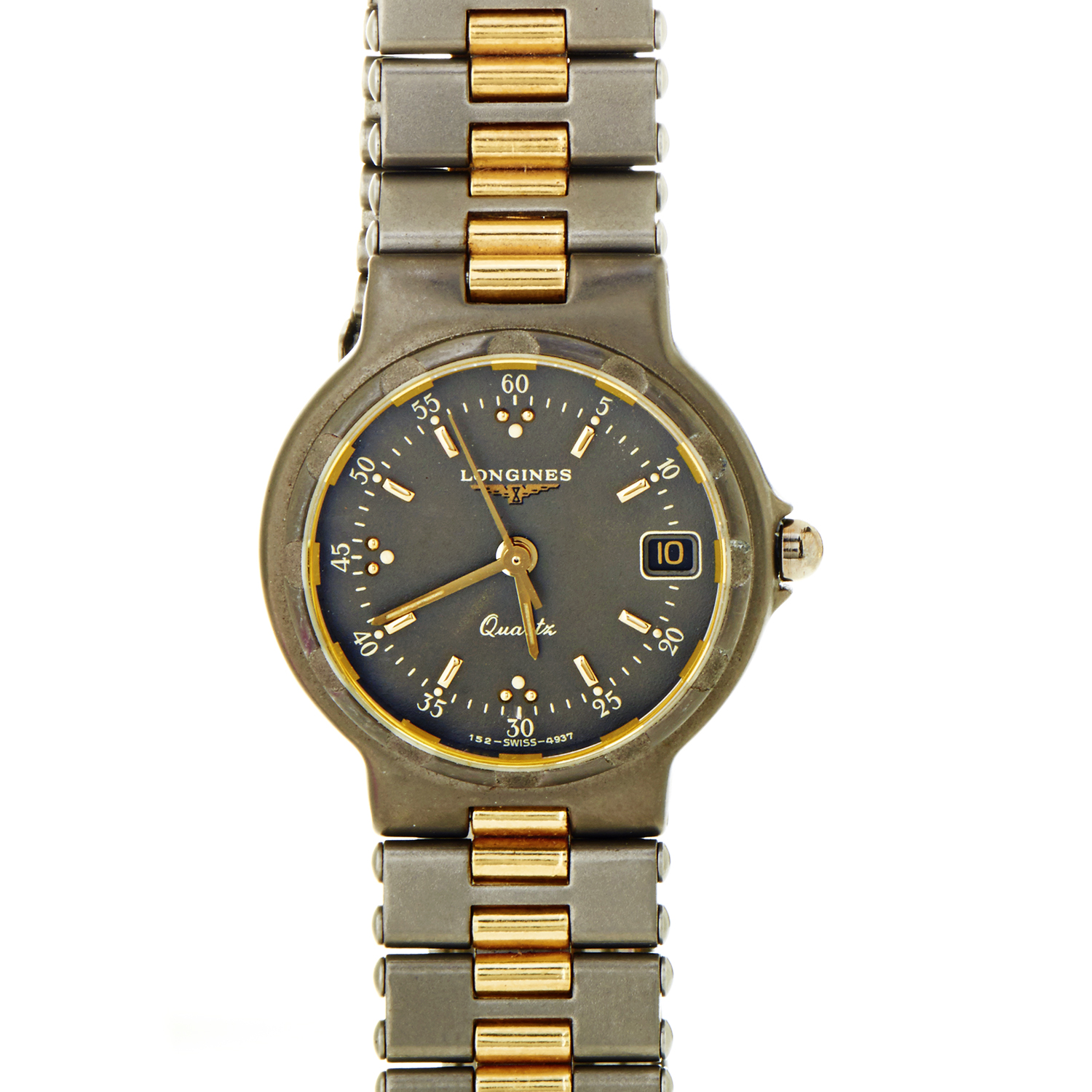 Conquest Women's Gold Plated Stainless Steel Quartz Watch L4.393.8.90.4
