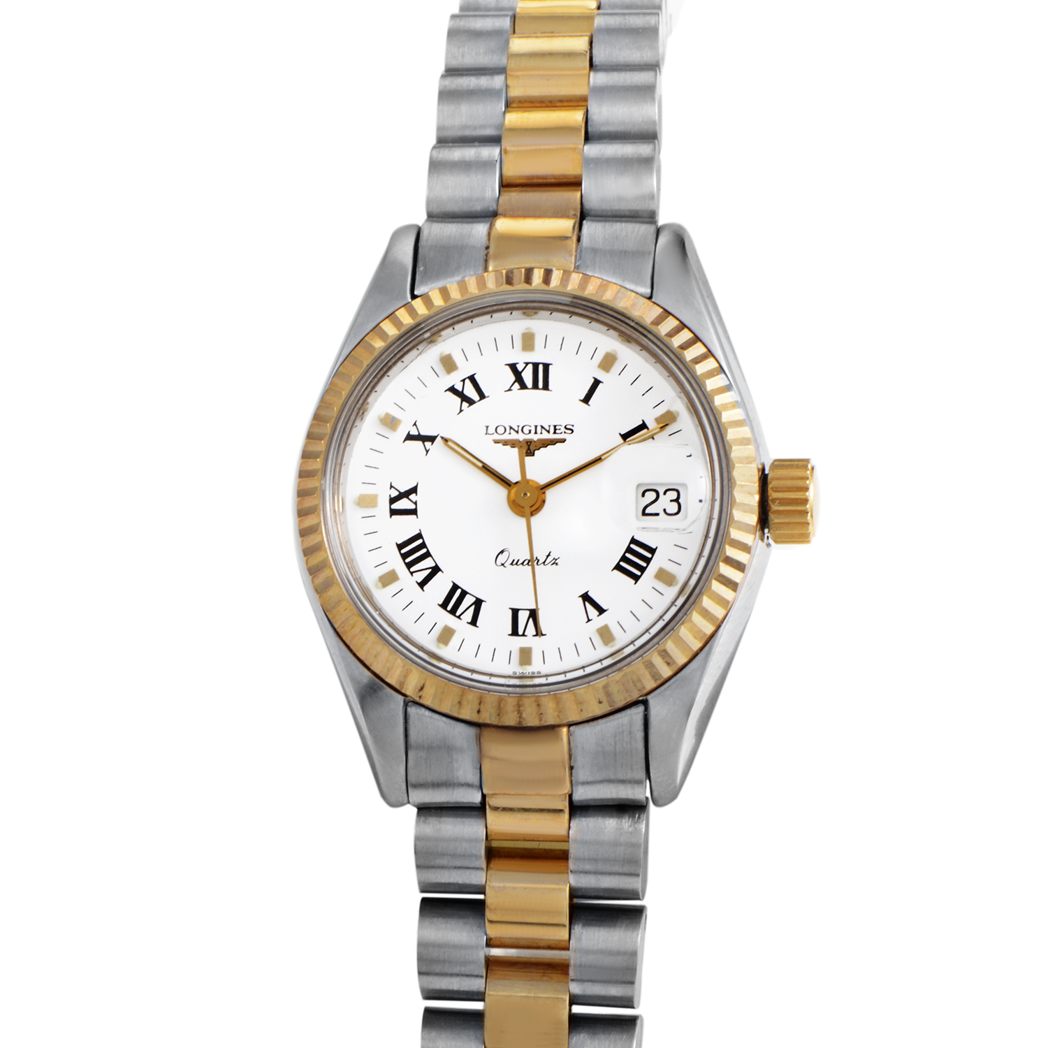 Ladies Stainless steel and 18K Yellow gold Quartz Watch L73565127