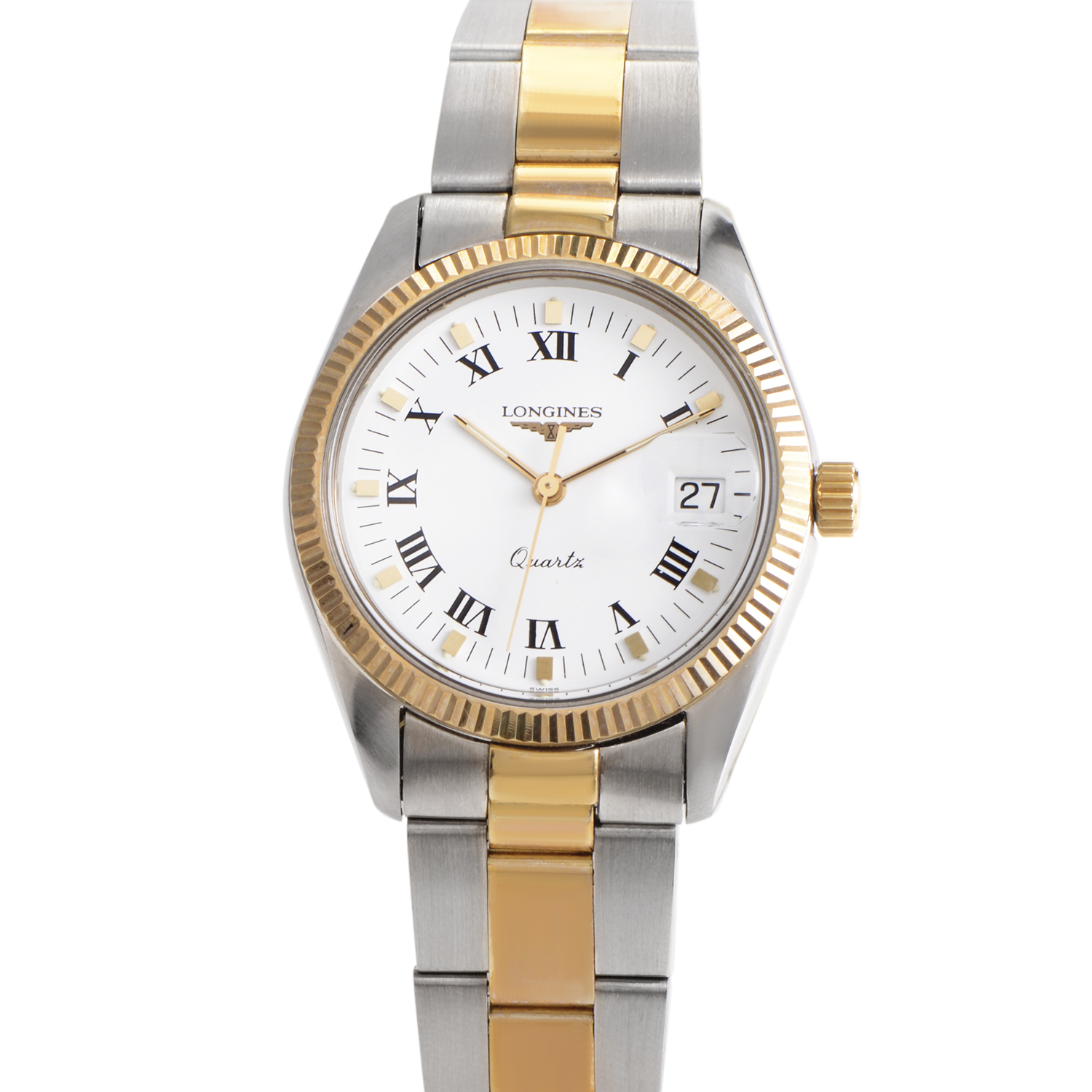 Ladies Stainless Steel And 18K Yellow Gold Quartz Watch L78565126