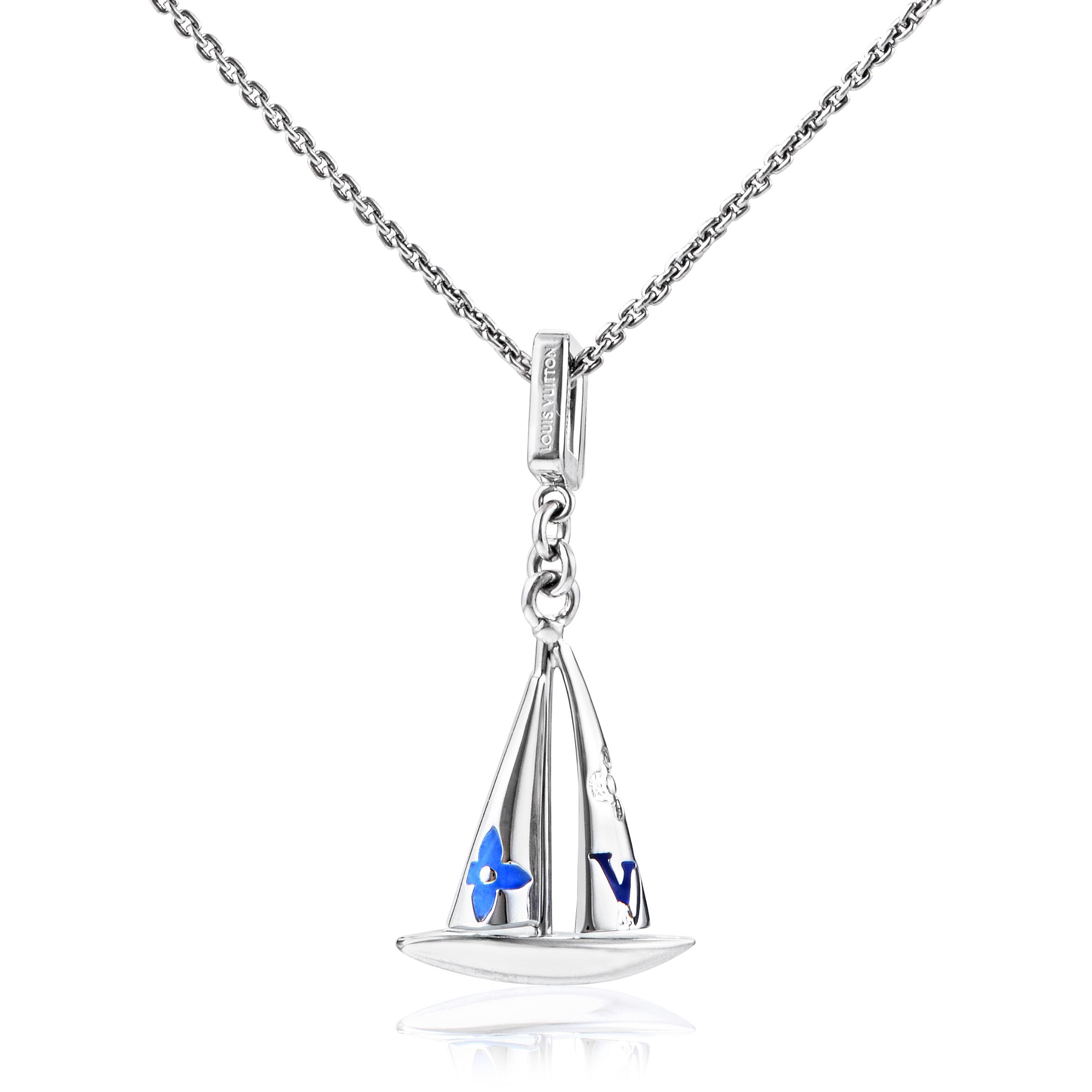 Louis Vuitton Women's 18K White Gold Sailboat Pendant Necklace