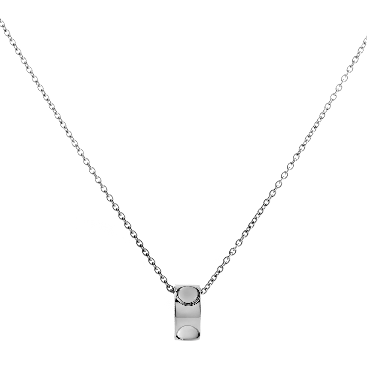 Louis Vuitton Empreinte Women's 18K White Gold Pendant Necklace