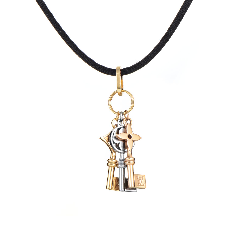 Louis Vuitton Idylle Blossom Women's 18K Multi-Tone Gold Keys Pendant Necklace