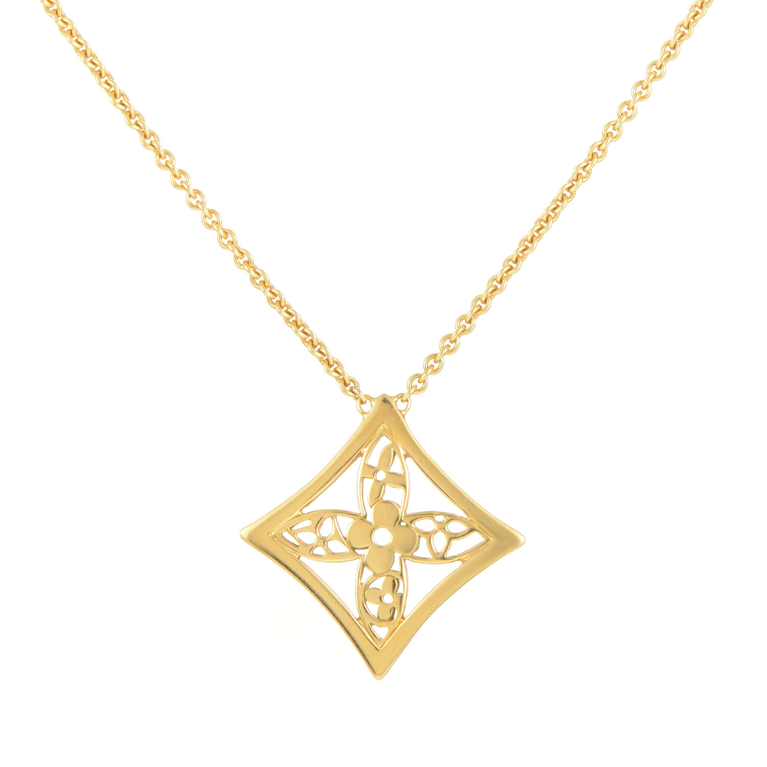 Louis Vuitton Idylle Blossom Women's 18K Yellow Gold Pendant Necklace