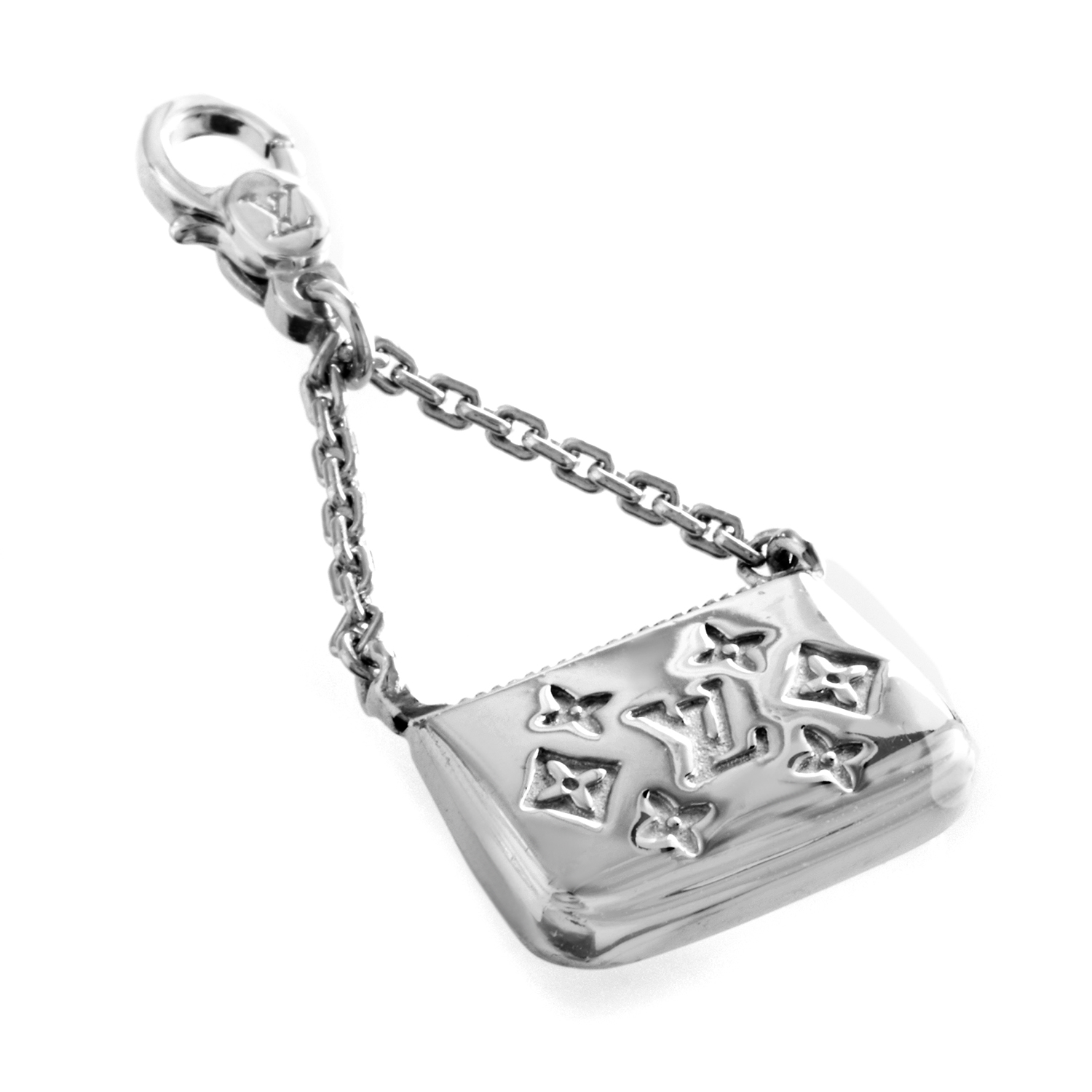 Louis Vuitton Charm de Monogram Women's 18K White Gold Handbag Charm