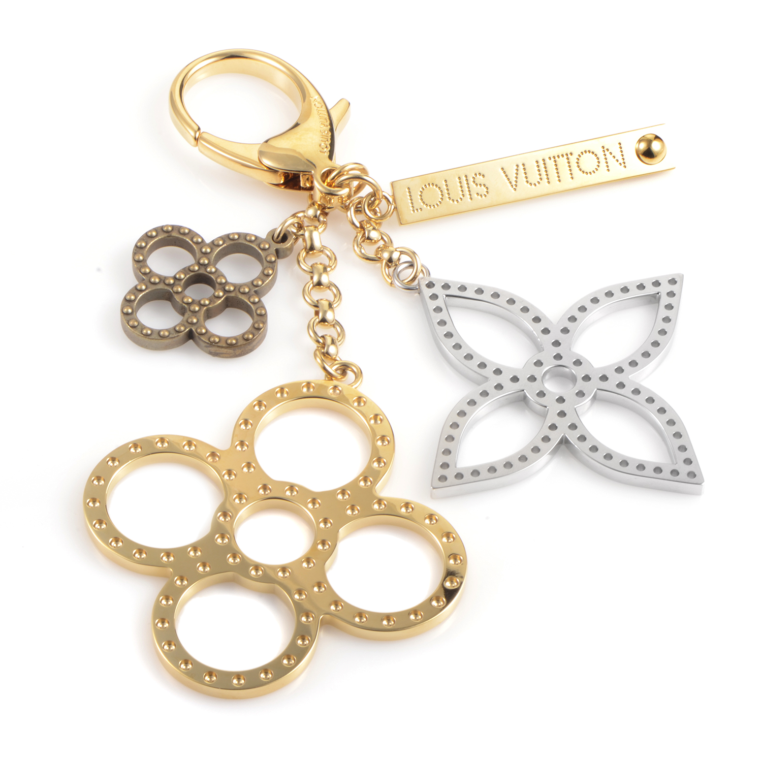 Women's Brass & Stainless Steel Bag Charm