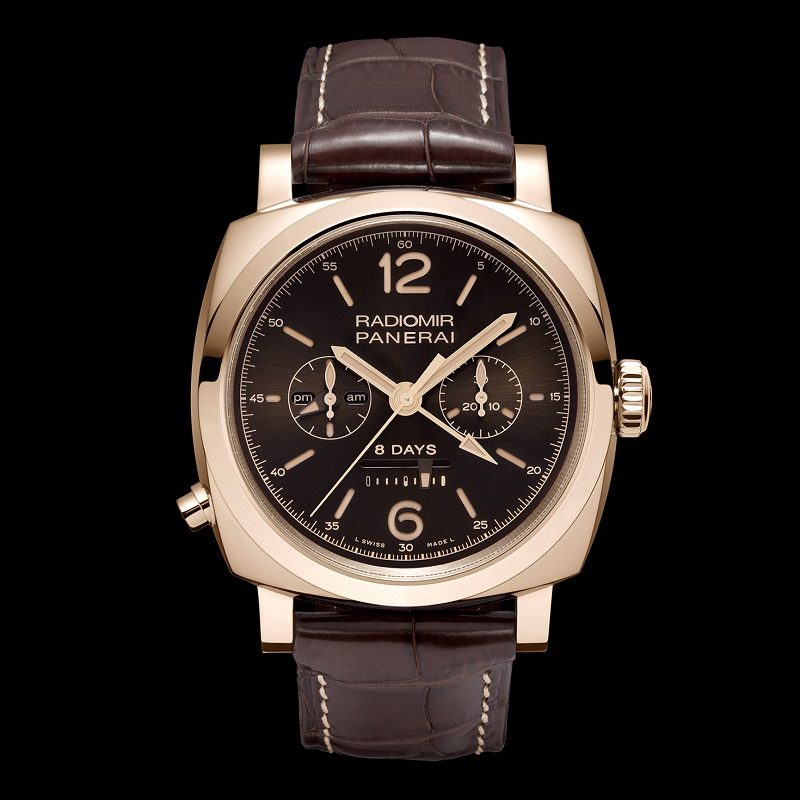 Luminor 1940 Chrono Monopulsante 8 Days GMT Oro Rosso PAM00502