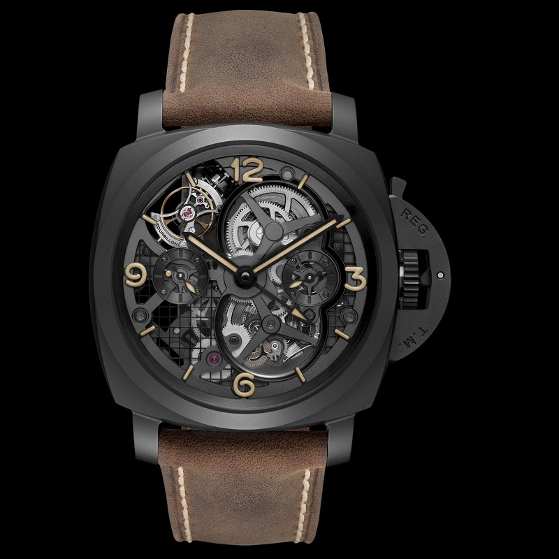Scienziato Luminor 1950 Tourbillon GMT Ceramica PAM00528