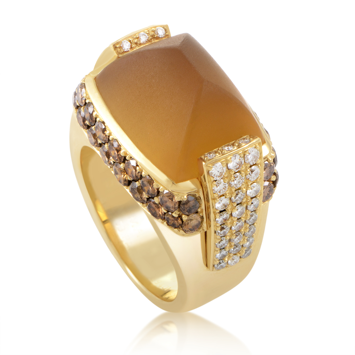 Mauboussin 18K Yellow Gold Citrine & Diamond Cocktail Ring