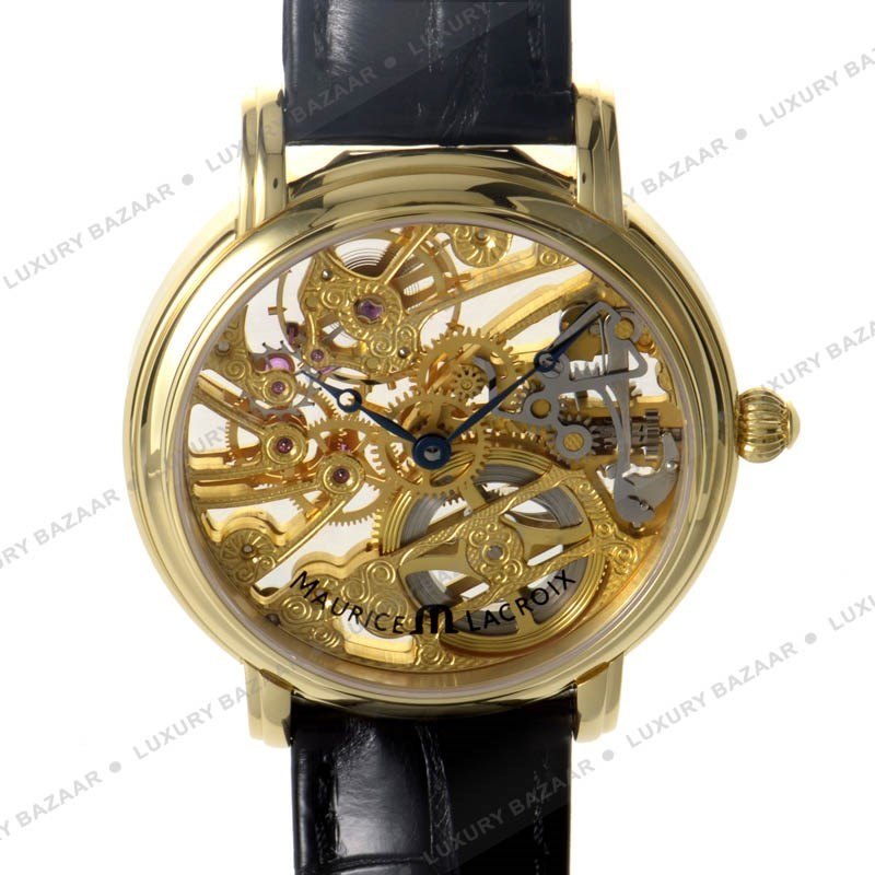 18K Yellow Gold Men's Masterpiece Mechanical Watch