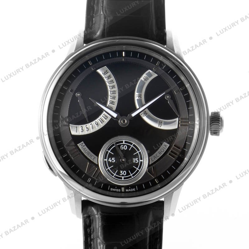 Men's Masterpiece Mechanical Retrograde Black