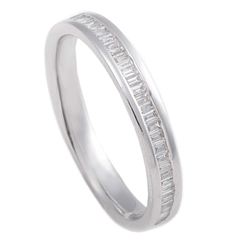 Thin 18K White Gold Diamond Band Ring MFC05-122013W