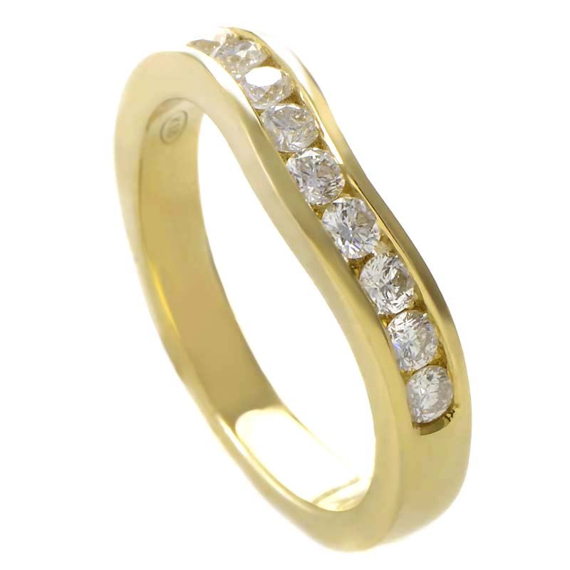18K Yellow Gold Diamond Band Ring MFC11-121913Y