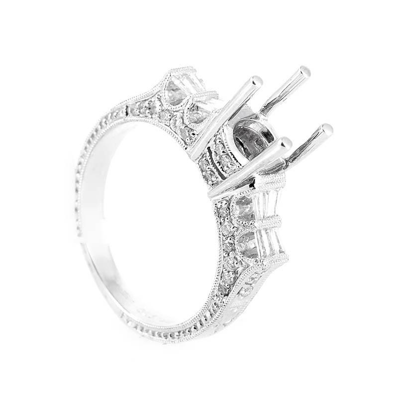 Fabulous 18K White Gold Bridal Mounting