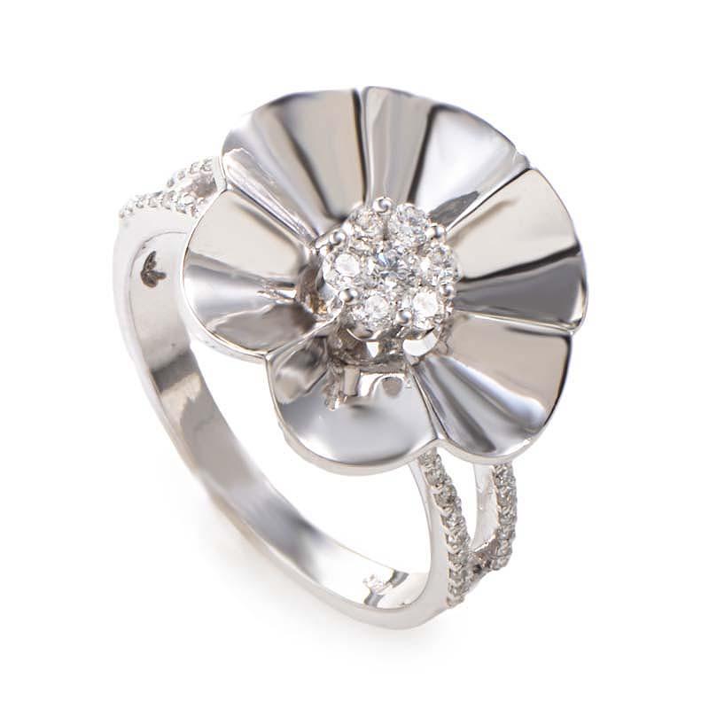 14k white gold flower ring 21020904 ebay