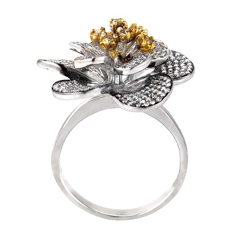 rings 18k white gold flower ring 21050885 luxury