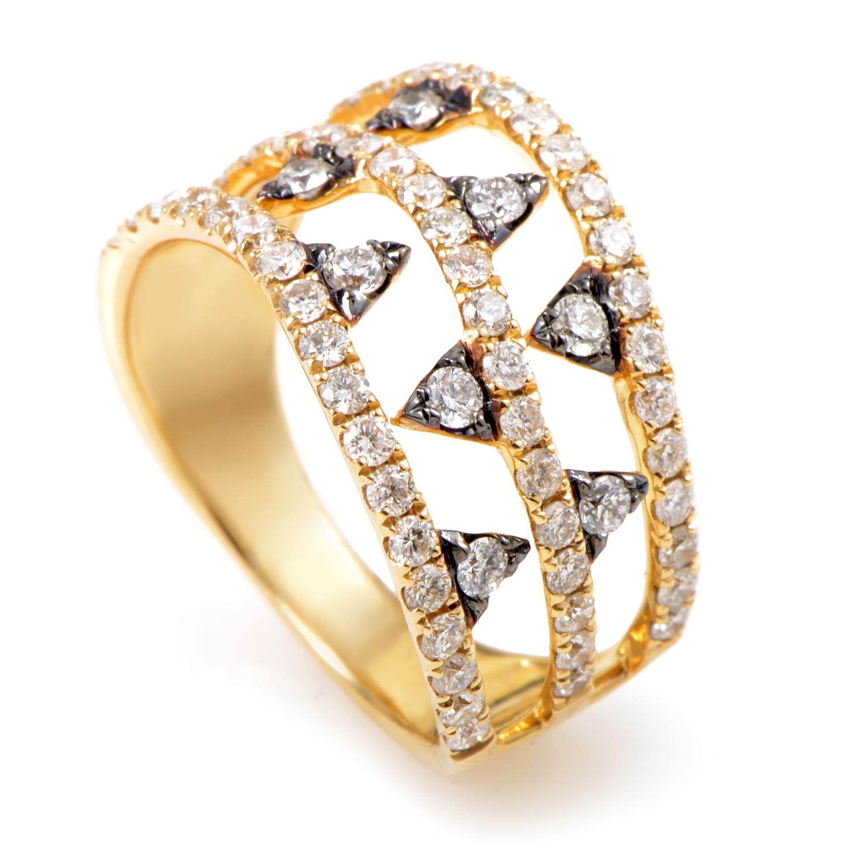 14K Yellow Gold Diamond Band Ring ALR-10591Y