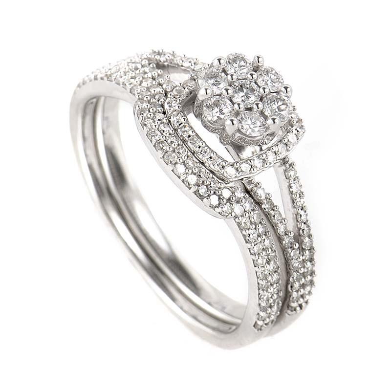 Gorgeous 14K White Gold Diamond Bridal Set