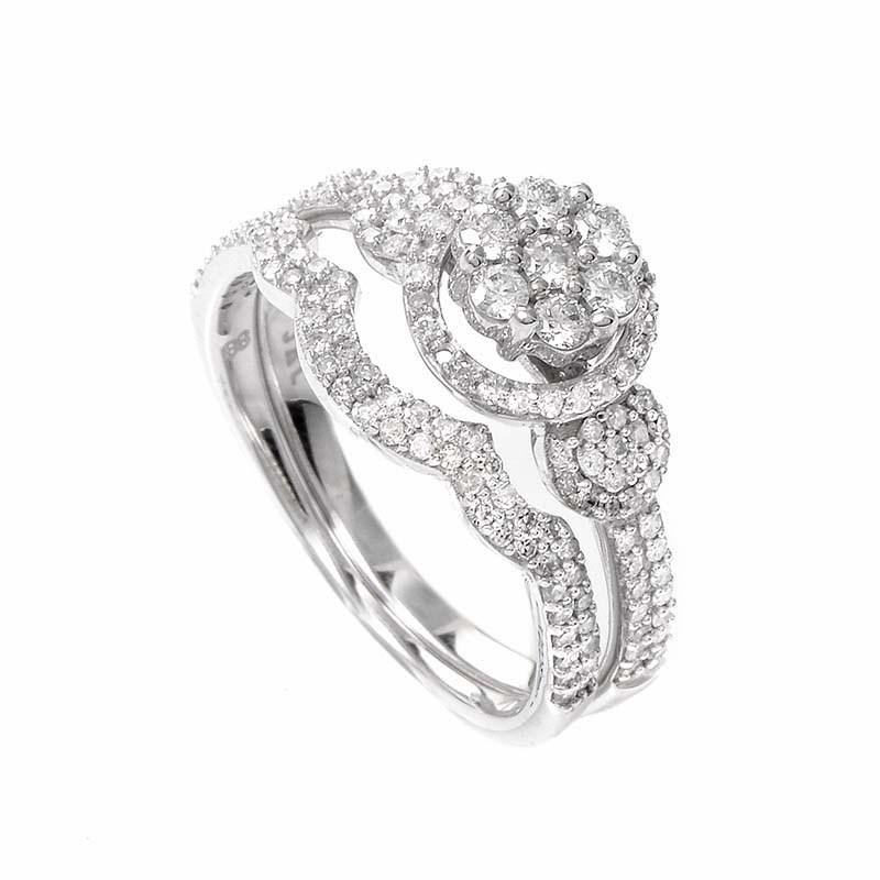 14K White Gold Diamond Bridal Set BR1397W
