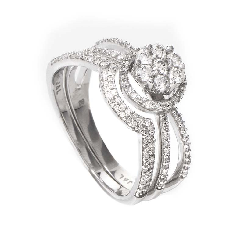 14K White Gold Diamond Bridal Set BR1408W