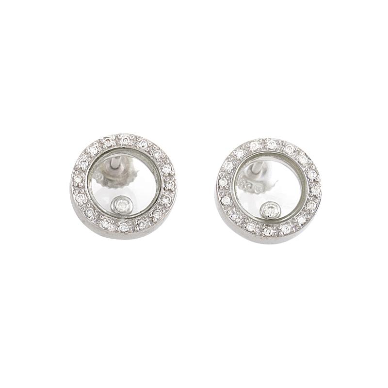 14K White Gold Floating Diamond Earrings ER4-02527W