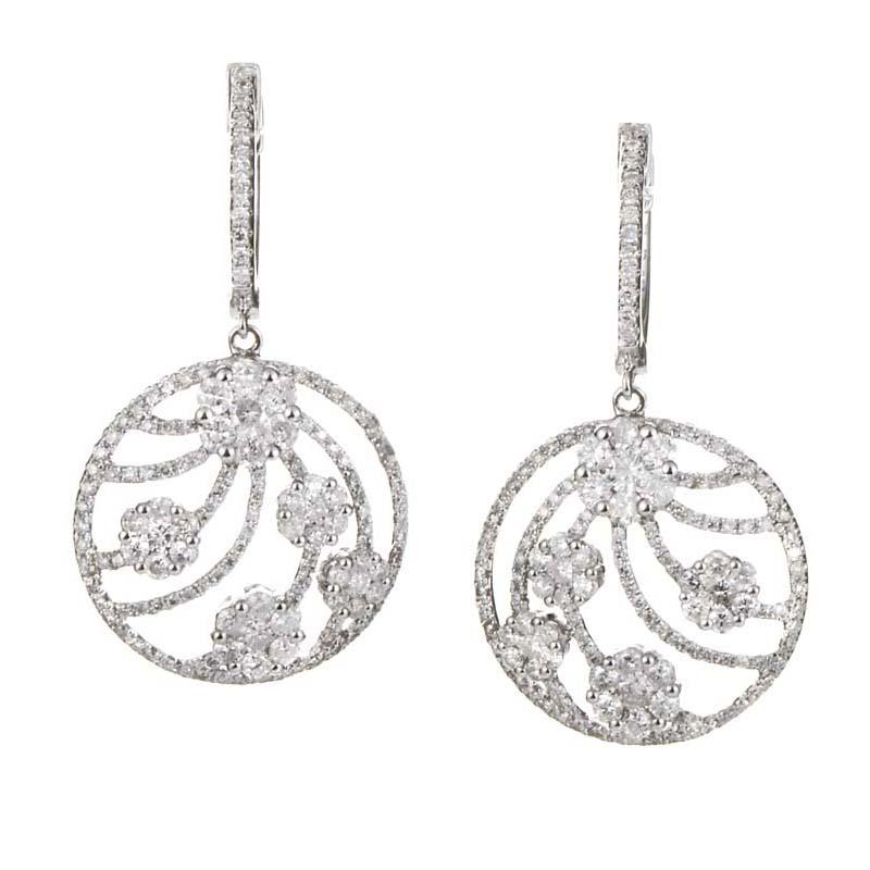 Tanzanite Drop Earrings White Gold Earrings 18k White Gold