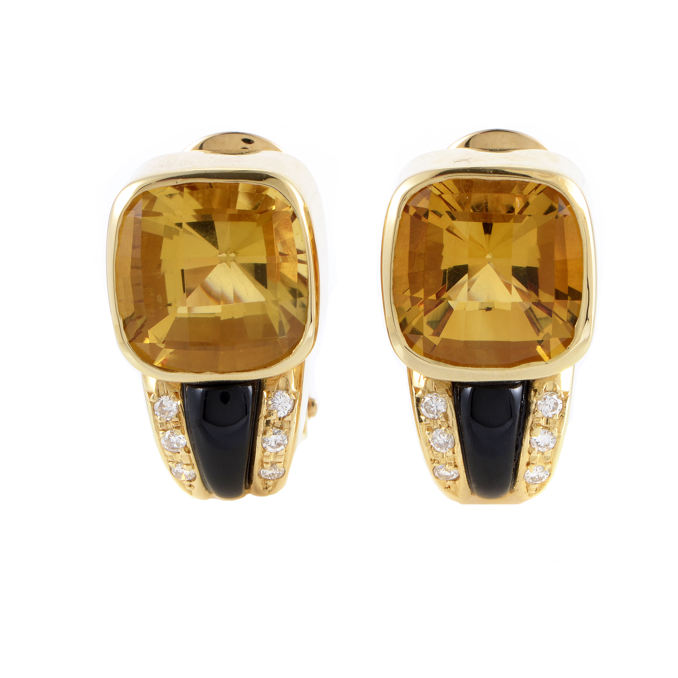 Women's 18K Yellow Gold Diamond & Gemstone Clip-on Earrings