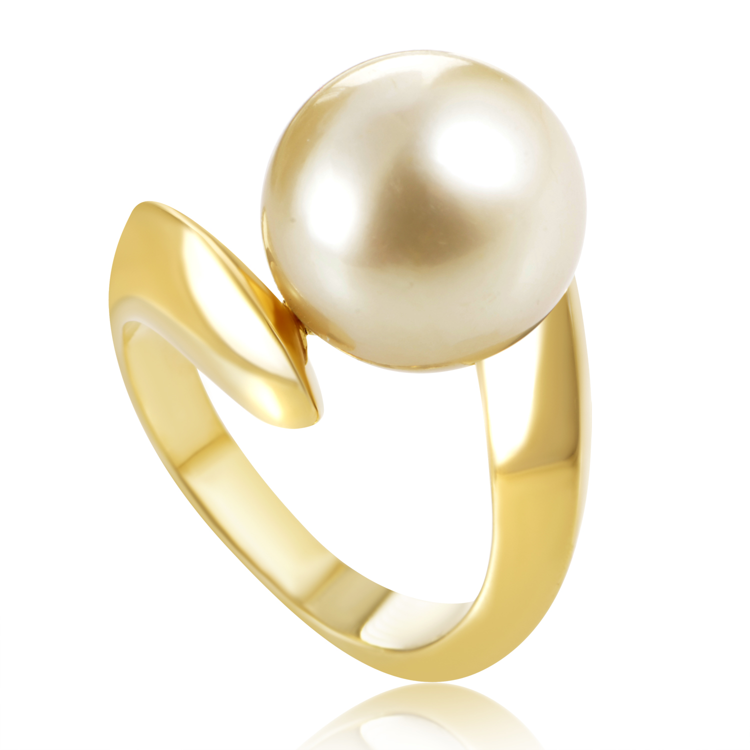 Women's 18K Yellow Gold Golden Pearl Ring IP0104835APY