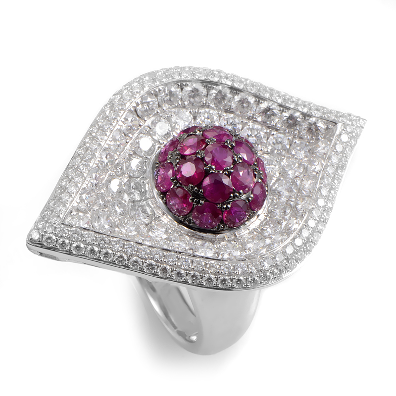 18K White Gold & Ruby Ring 21388616