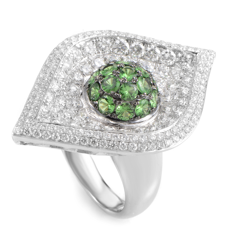 French Collection 18K White Gold & Tsavorite Ring 21388673