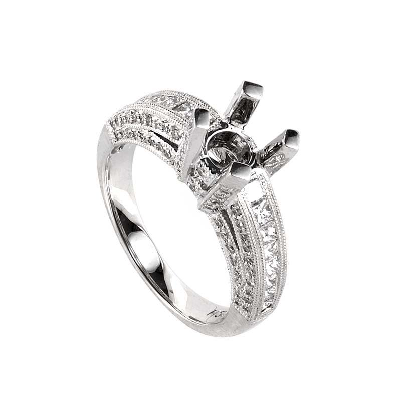 18K White Gold Diamond Mounting Ring LBD-0665862
