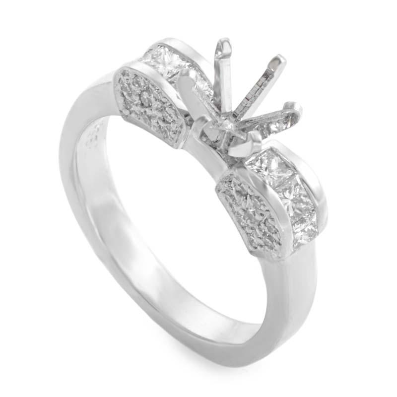Platinum & Diamond Mounting Ring LBD-095102