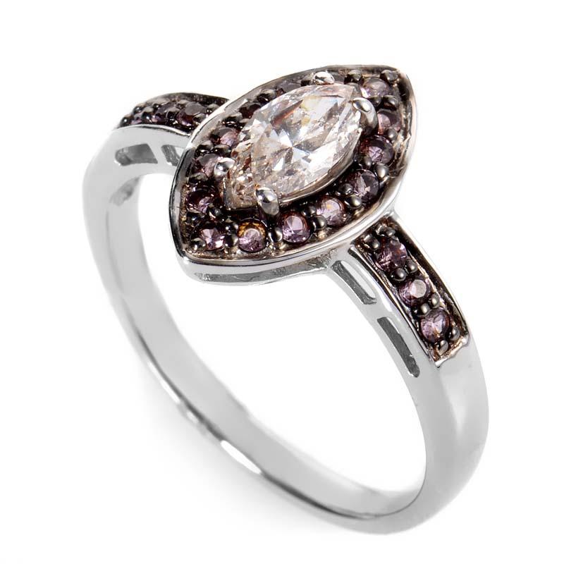 14K White Gold Diamond & Pink Sapphire Ring LD4-05772WPSA