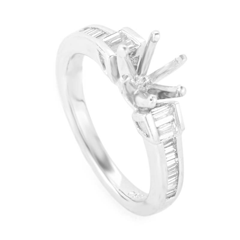 Platinum Diamond Mounting Ring MFC01-062913