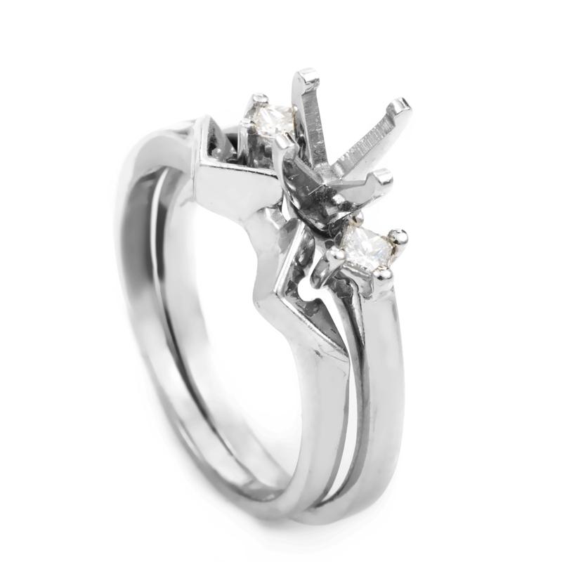 Platinum Diamond Bridal Mounting Set MFC03-041213