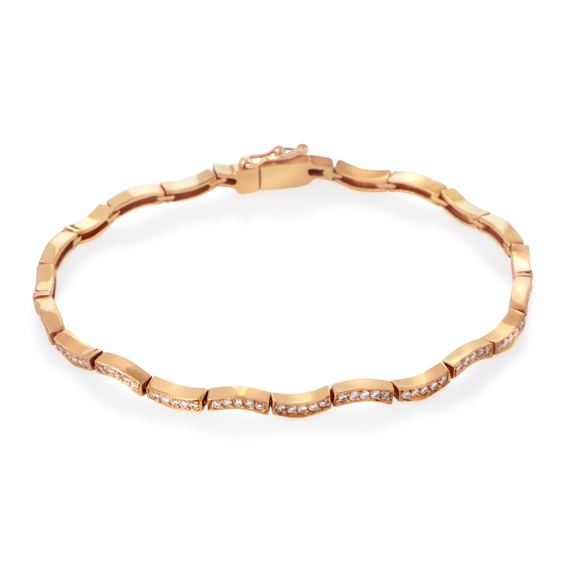18K Rose Gold Diamond Bracelet MFC03-050615R
