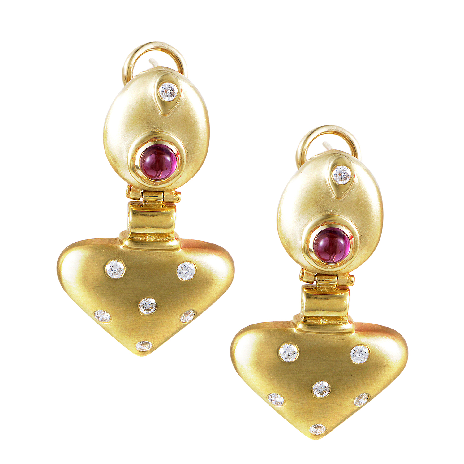 14K Yellow Gold Tourmaline & Diamond Drop Earrings MFCO05-122914