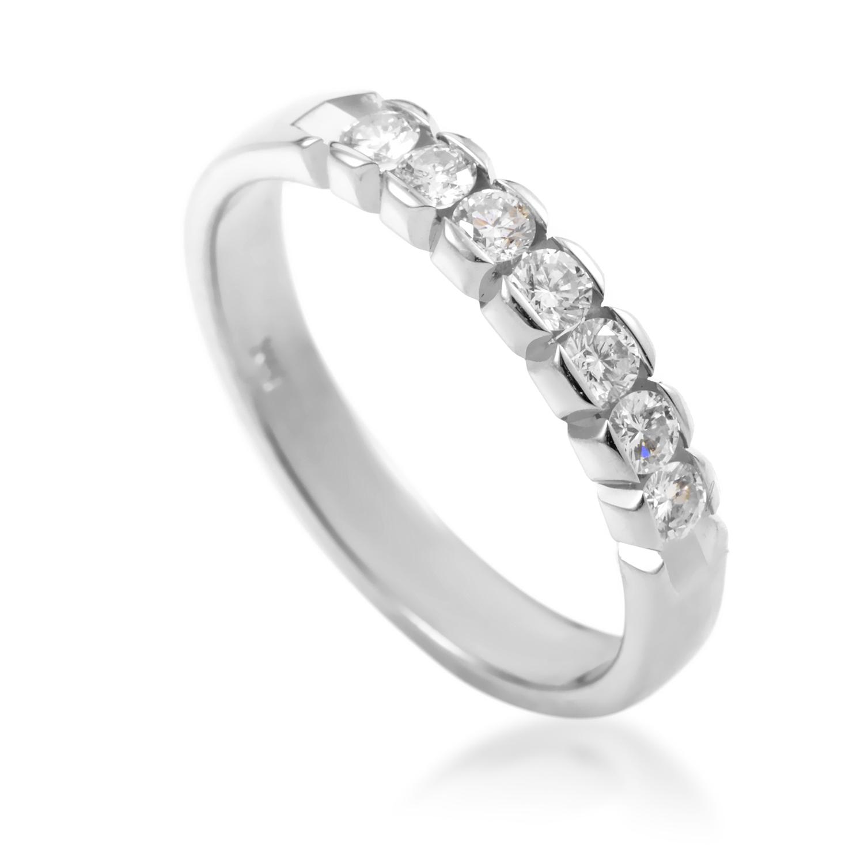 Women's 14K White Gold Diamond Wedding Band MFC05-071516