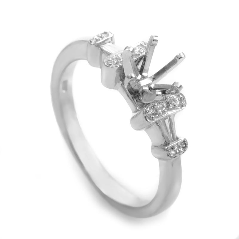 Platinum Diamond Engagement Ring Mounting MFC08-041213